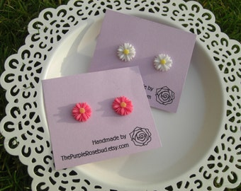 Daisy Earrings ~ 10+ colours to choose from