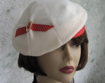 Womens 1930s Vintage Hat Pattern Misses Pleated Beret With Accent Trim Instant Dowload Pattern
