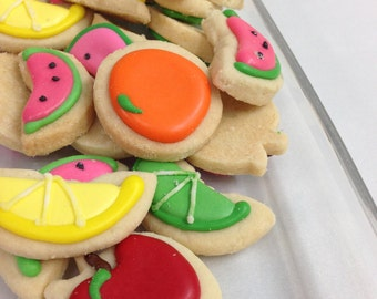 Mini FRUIT SUGAR COOKIES, Itty Bitty Sugar Cookies, 1/2 Pound
