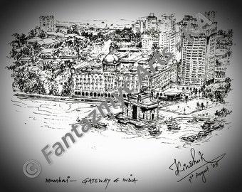 Top view of Gateway of India, Mumbai