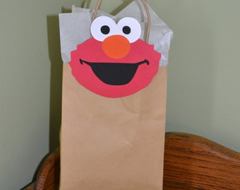 "Elmo Inspired 4"" Favor Clips set of 12 for Bags, Baskets or Boxes - Birthday - Party"