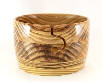 Yarn Bowl, LARGE, with Round Yarn Guide, Handmade Wood with Transparent Properties for Knitting or Crochet Projects #860.