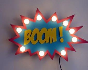"""Sign """"Bubble comics BOOM!"""" Just a Spark"""
