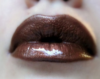 Copper Fusion - Brown / Copper Shimmer Lip gloss - Vegan - Gluten Free - Fresh - Handmade Cruelty Free