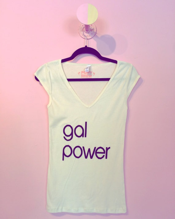 Gal Power vintage vee tee