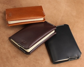 A6 Leather Refillable Journal Hobonichi Planner Personalised Leather Notebook