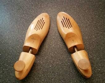 Wooden Shoe Forms, Vintage Nadex Shoe Stretcher, Solid Wood