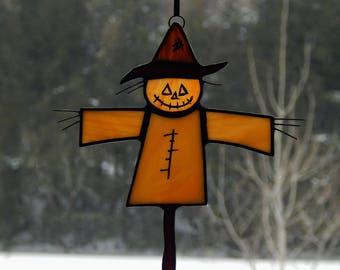 Stained Glass Scarecrow Suncatcher