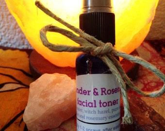 Lavender and Rosemary facial toner, all natural pure aloe vera, facial cleansing