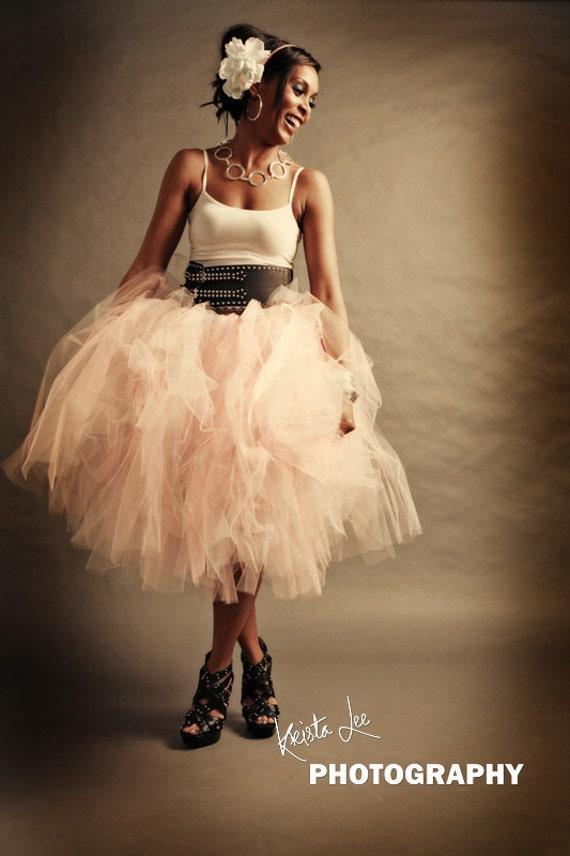 Shabby Chic Tulle Skirt Adult Tutu Womens Tulle Skirt Pink Tulle Skirt Pink Tutu Skirt Bridesmaids Skirt Wedding Separates Adult Tulle Skirt