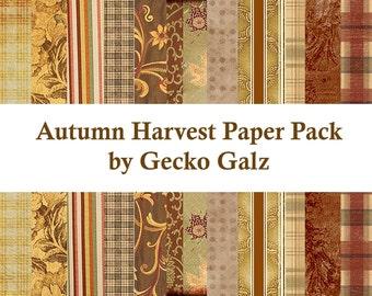 Autumn Harvest Digital Paper Pack