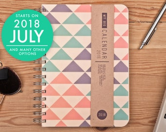 2018-2019 Weekly Planner A5 Diary triangles design Calendar Calendario Kalender Agenda Journal! Open-dated available