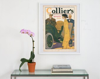 collier's magazine archival print, collier's cover art archival print, collier's magazine print, magazine cover art, cover art, magazine art