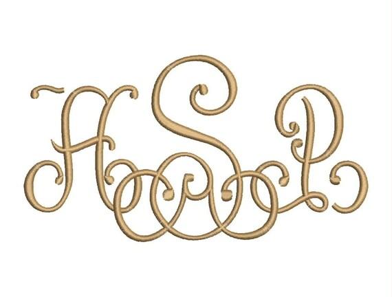 Sale Lace 3 Letter Monogram Font Machine Embroidery Monogram
