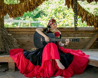 "Gypsy dancing skirt ""Kassandra"". Gypsy skirt. Flamenco skirt. New collection."