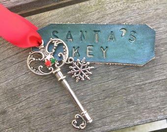 Santa Key - Christmas Ornament - Key Ornament - Santas Magic Key - Christmas Tree Ornament