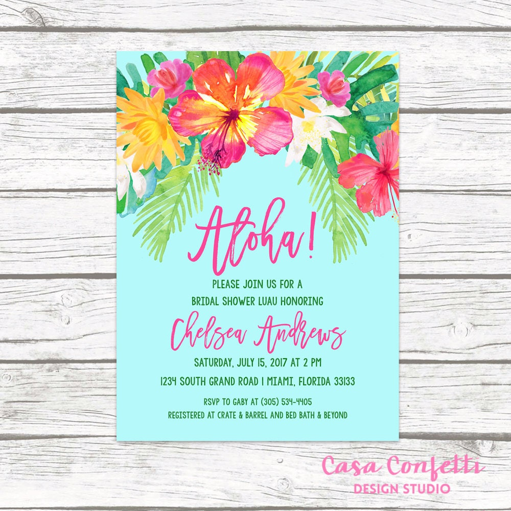 Luau bridal shower invitation tropical bridal shower invitation luau bridal shower invitation tropical bridal shower invitation aloha bridal shower invite tropical wedding hawaiian printable invite filmwisefo