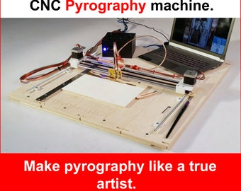 PyroPrinter - CNC Pyrography Machine for HOME BUSINESS. Burned Pictures From Photo.