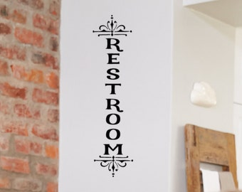 Restroom Decal Etsy - Vinyl wall decals business