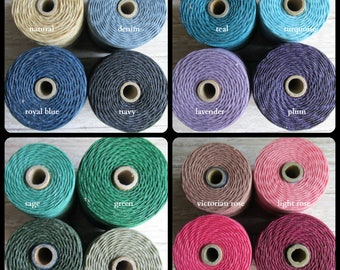 Choose length ONE Color 7 Ply Waxed Irish Linen Thread, 7 ply linen, Linen Cord, Waxed Linen Cord, Irish Linen, Bookmaking Linen
