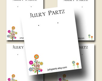 POLLY Flowers, Earring Cards, Jewelry cards, Earring Display, Earring Holder, Necklace Holder, Custom Earring Card