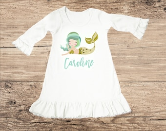 Personalized Mermaid Dress for Baby and Toddler