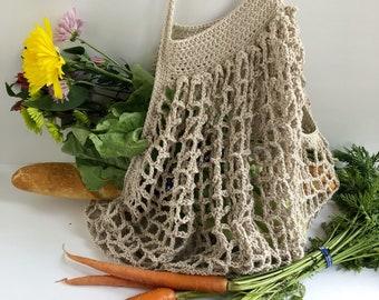 European Market Bag in Beige/ Farmer's Market Bag