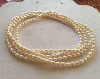 Continuous Strand of Fresh Water Pearl Necklace 44""