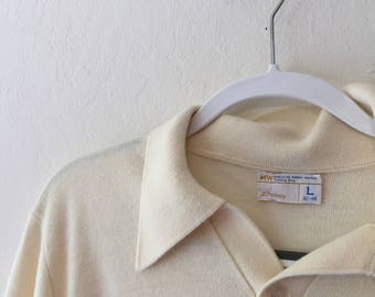 1970s JCPenny Cream Shirt