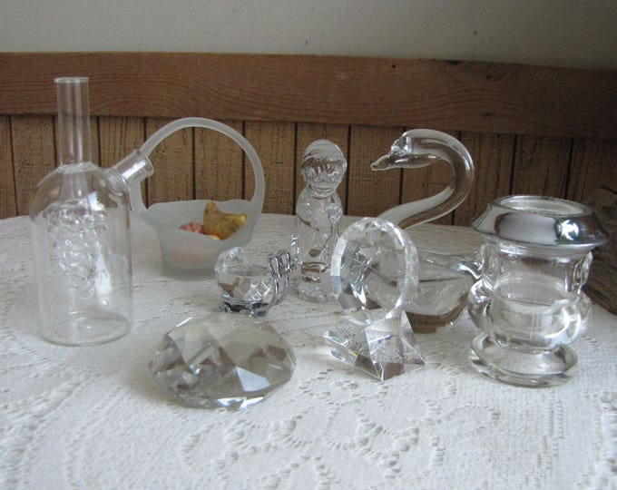 Lot of Crystal and Glass Miscellaneous Items