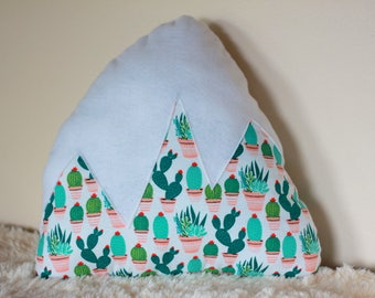 Girls Room Cactus Mountain Pillow Nursery Decor Baby Unisex Kids Room accent Pillow Arizona Southwestern Snowy Mountain