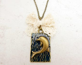Dolphin Necklace, Dolphin jewelry