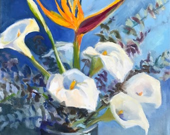 Lilies and Bird of Paradise