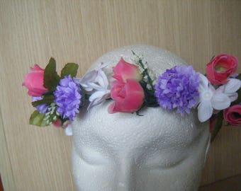 Flor para tocado la corona.