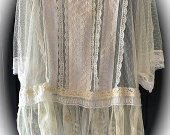 Boho Flapper Style Lace Top Sheer Delight