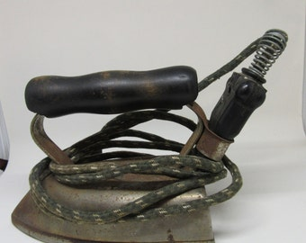 Iron American Beauty No 6 1/2 B Cord-Detroit American Electrical Heater Co Vintage Collectible Gift Home Decor Country Decor Collector