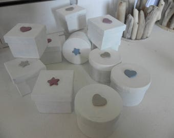 Set of 12 boxes for your jewelry