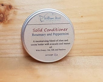 Rosemary and Peppermint  Solid Hair Conditioner - conditioner bar - deep conditioner - travel conditioner - dry hair care
