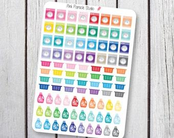 Laundry Planner Stickers Designed for Erin Condren Life Planner