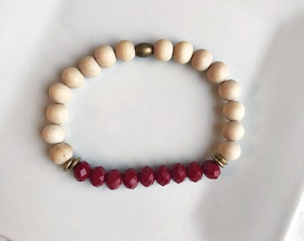 SALE** Red Essential Oil Diffuser Bracelet - Style B