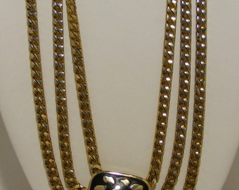 SIGNED Mimi di N Vintage Necklace With Multi Chain
