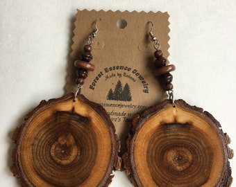 Finished Wood Slice Earrings