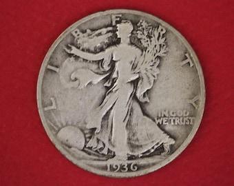 2 Silver Walking Liberty Half Dollars Junk Silver Coins Legible Dates NO Slicks or Major Damage 2.99 Flat Rate Shipping