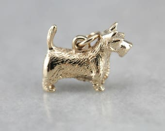 Scottish Terrier, Gold Dog, Animal Charm, Charm Necklace 5XX7PJ-D