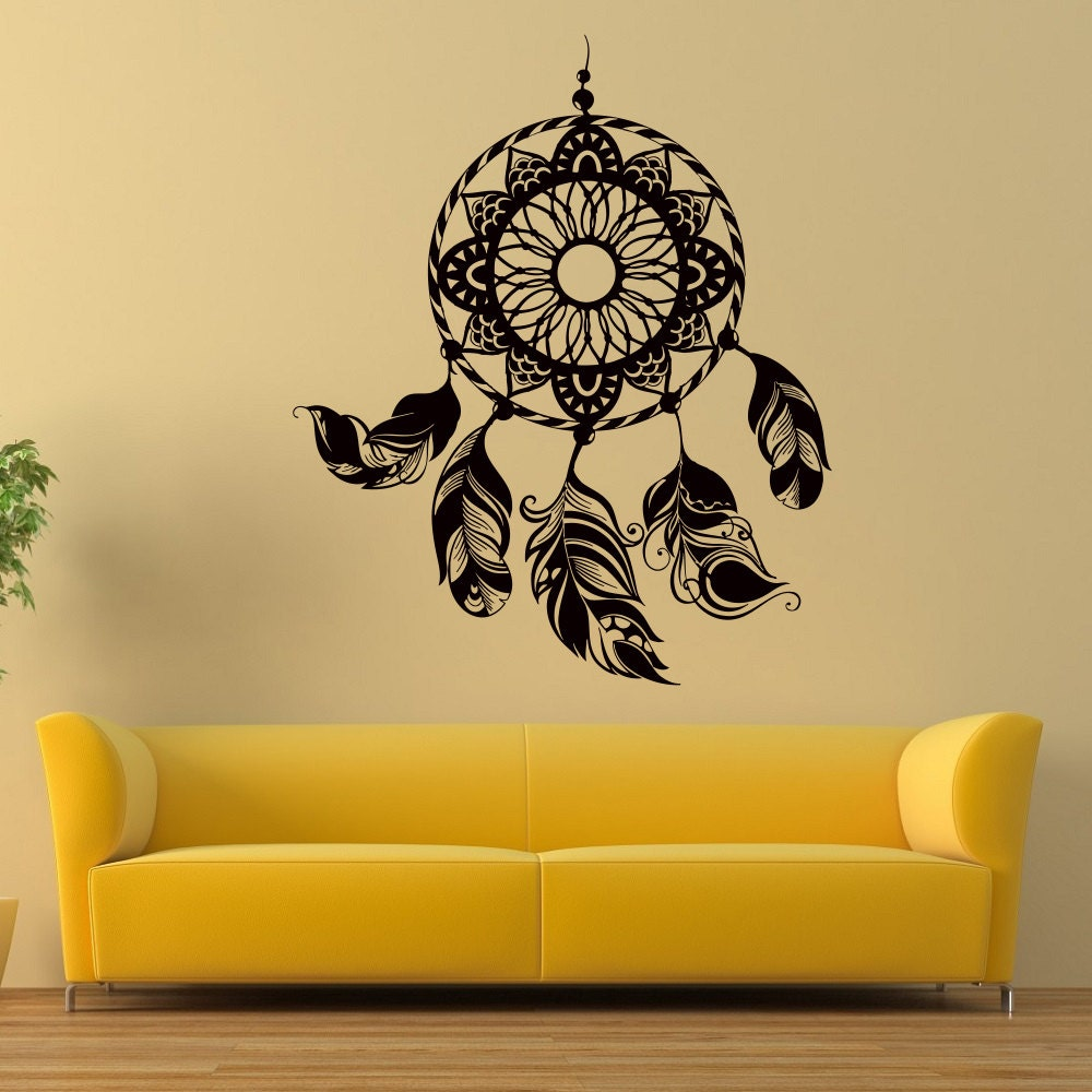 Dreamcatcher Wall Decals Dream Catcher Feather Vinyl Wall