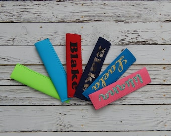 popsicle coolers,popsicle sleeves,personalized popsicle sleeve,glitter popsicle sleeve,camo popsicle sleeve,birthday party gift,party favor