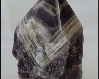 Chevron Amethyst Point Metaphysical Chakra Stone Reiki Crystal Meditation Crystal Gifts for Home Birthday Gifts House Warming Gift
