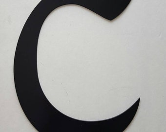 Letter C Metal Home Decor. Painted Black. Home or Office Decor.  Wedding Decor. Housewarming, Birthday or Christmas Gift!  Ready to Ship!