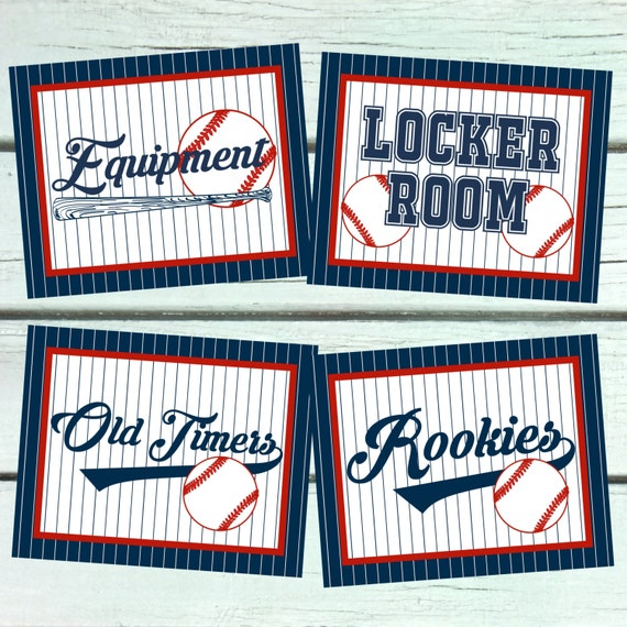Baseball Party Signs. 8x10 Party Signs. Baseball Party