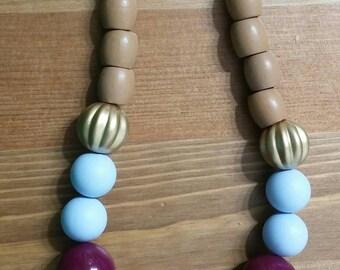 Berry plastic necklace/שרשרת אוכמניות